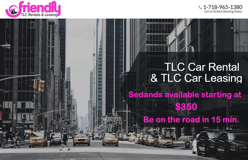 Friendly TLC SUV Rental Special - Small cars - $349, SUVs - $449 - Cheap TLC Rentals NYC
