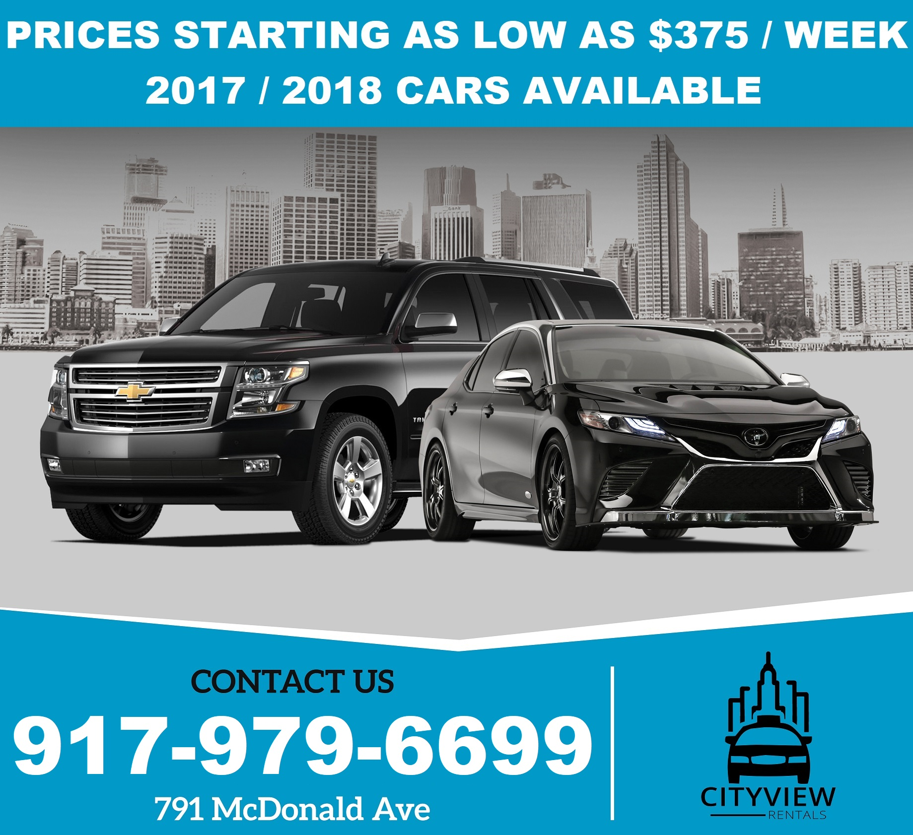 UBER and LYFT TLC Cars Available NOW - $375 (791 McDonald Ave)