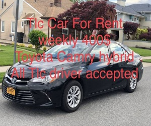 2015 Toyota Camry hybrid Tlc car for rent. Black n black Uber - lyft - $400