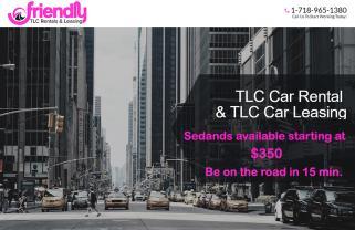 Friendly TLC SUV Rental Special - Small cars - $349, SUVs - $449
